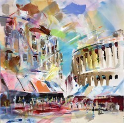 Queen's Parade by Marijus Jusionis -  sized 24x24 inches. Available from Whitewall Galleries